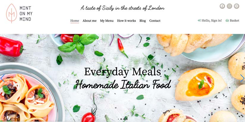 screenshot of the homepage of a website