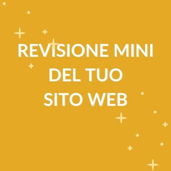 grafica con scritta in evidenza 'revisione' mini del tuo sito web