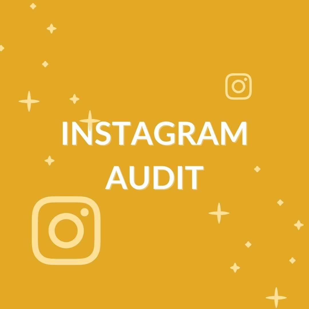 grafica con scritta in evidenza 'instagram audit'