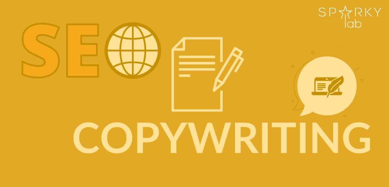 grafica con testo in evidenza e la scritta seo copywriting