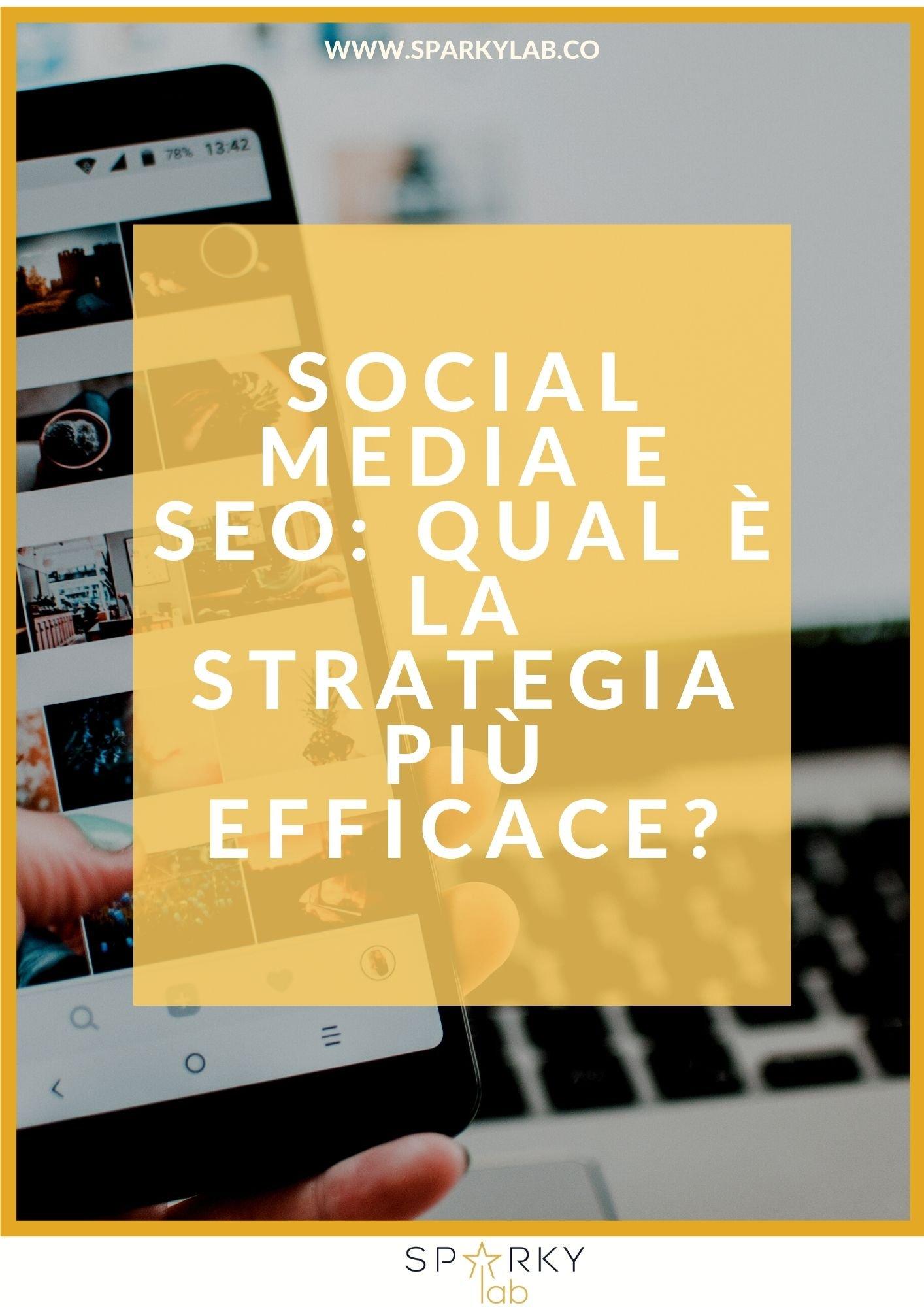 cellulare sullo sfondo e scritta Social Media e SEO: qual è la strategia più efficace?
