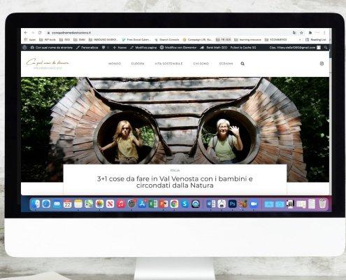 screenshot del travel blog di hilary stella